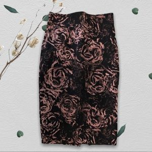 RW&CO Rose Printed Pencil Skirt